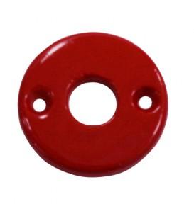 Rosace porcelaine de Limoges rouge