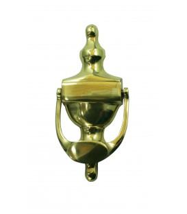 Heurtoir de porte ou marteau de frappe ETRIER petit modèle laiton poli massif