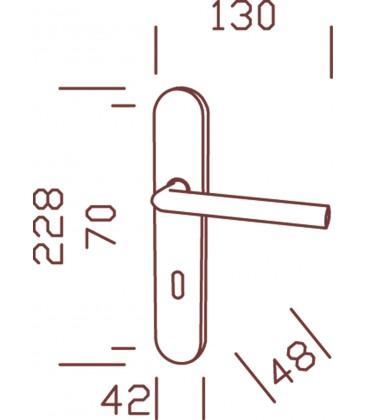 Poignées de Porte BOREAL tconda Inox 195 mm