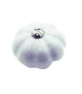 Bouton de meuble CITROUILLE porcelaine de Limoges 35 mm