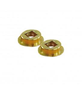 2 portées ou centreur laiton massif pour carré de 7mm