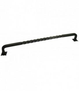Poignée de meuble axe 305mm fer noir