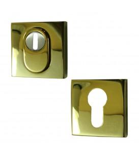 Set Rosace Carré de Sécurité clé I en Inox doré titane