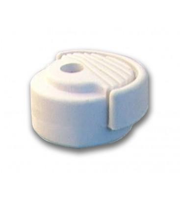 Butée de porte à fixer au sol en caouchouc blanc