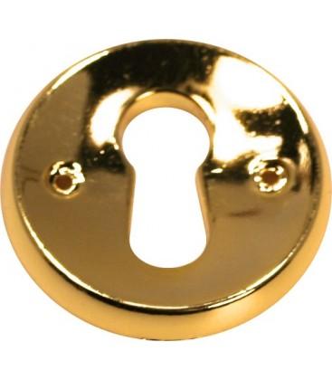 Entrée de clé pour meuble métal doré 27 mm