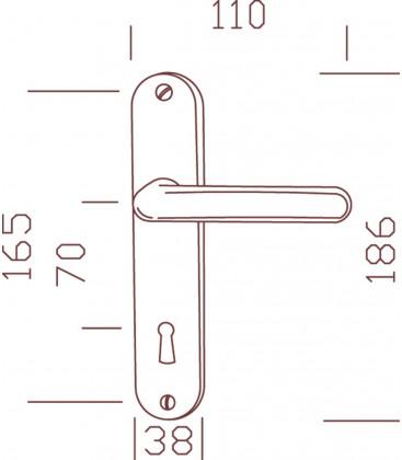 Ensemble/Plaque TIGNES Aluminium BLANC Conda 165
