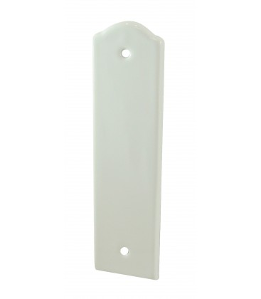 Plaque oblongue bec de cane SOLIGNAC  165 mm porcelaine