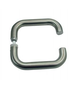 Béquille double U inox pour porte intérieure 2 portées