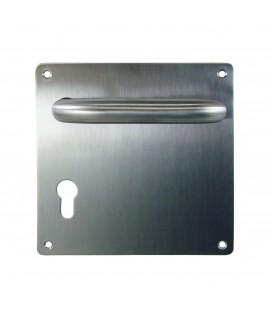 Béquille double U inox 304 sur platine 170 x 170 mm