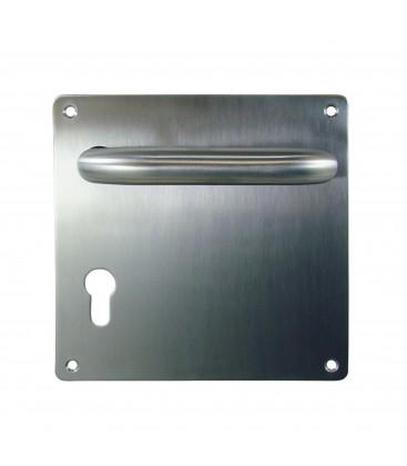 Béquille double ÉCUME inox pour porte intérieure 2 portées