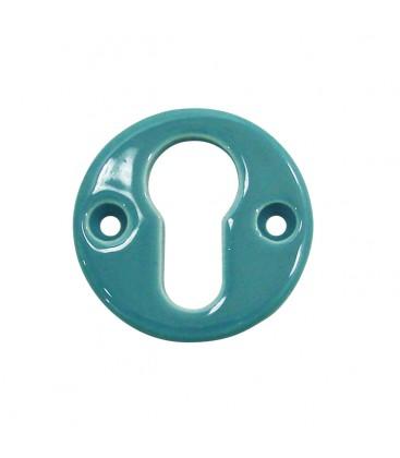 Rosace de fonction bleu de prusse trou cylindre