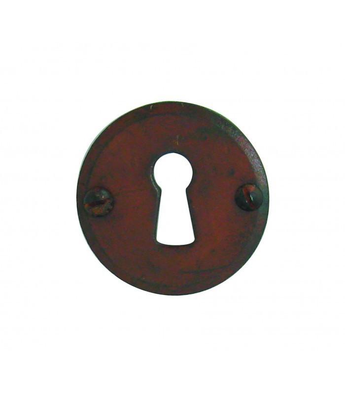 Ensemble de poign e de porte sur rosace provence trou serrure fer forg rouill et porcelaine de - Poignee et bouton de cuisine ...