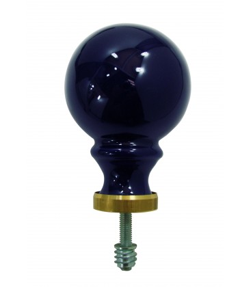 Boule de rampe bleu de four 80 mm