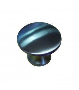 Bouton de meuble inox mat D.25 mm