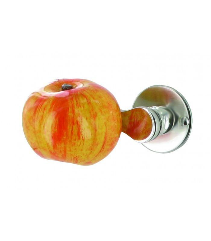 demi poign e de porte sur rosace pomme r sine sur coude. Black Bedroom Furniture Sets. Home Design Ideas