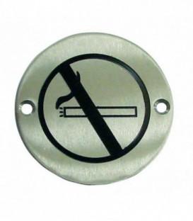 """Plaque de porte picto """"Ne pas fumer"""" inox brossé"""