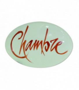 """Plaque signalétique """"Chambre"""" lettrage sanguin porcelaine de LIMOGES"""