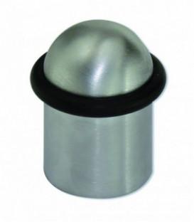 Butée de porte laiton massif nickelé satiné D.30mm