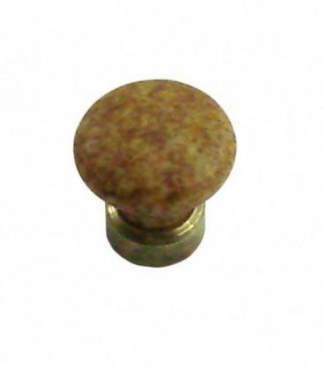 Bouton de meuble D.25mm en porcelaine marron chiné