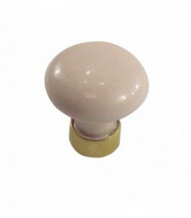 Bouton de meuble en porcelaine ROSE D.25mm