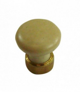 Bouton de meuble Grès clair en porcelaine D.25mm