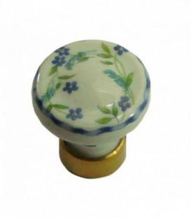 Bouton de meuble BRINDILLE en porcelaine D.30mm