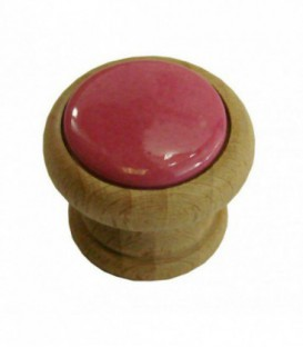Bouton de meuble FRAMBOISE en porcelaine