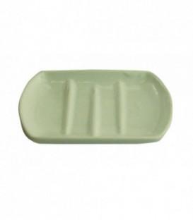 Porte savon BLANC en porcelaine