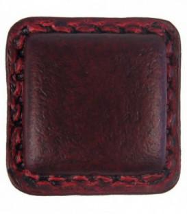 Bouton de meuble Carré en cuir Marron 25 x 25