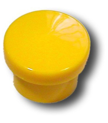 Bouton de meuble JAUNE D.30 mm